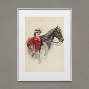 Vintage Horse Rider Artwork